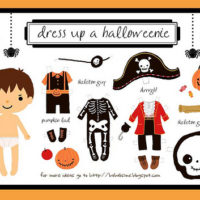 FREE Printable Halloweenie Dress Up Boy