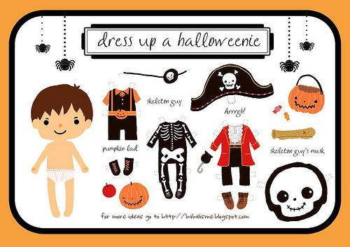 FREE Printable Halloweenie Dress Up Boy - SheSaved®