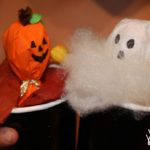 Halloween Arts & Crafts: Pumpkin and Ghost Pop Up Lollipop Puppets