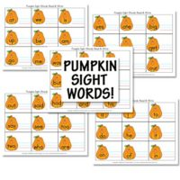 Free Pumpkin Sight Word Printables