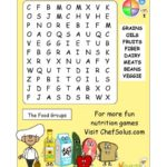 FREE Printable Food Groups Word Search Puzzle + Printable Coupons