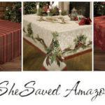 Amazon Deals Holiday Table Linens Deals