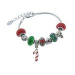 Charmed Feelings Murano Style Glass and Charms Bracelet For $9.98!