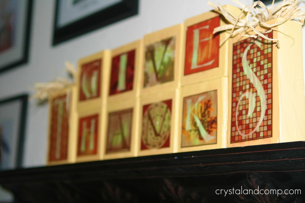 Thanksgiving Crafts Wooden Block Project Shesaved