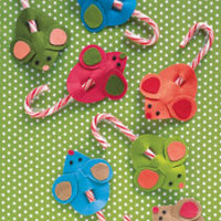 Kid's Christmas Crafts   Candy Cane Mice