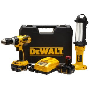 Dewalt Hammer Drill and Area Light Combo Kit