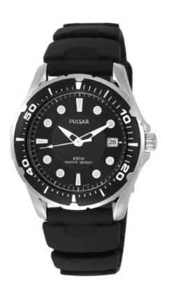 Mens Black Quartz Watch