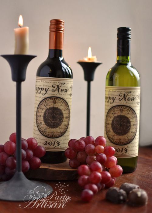 New Years Printable Bottle Wrap