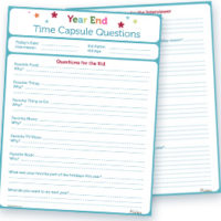 Year End Time Capsule | Free Printable