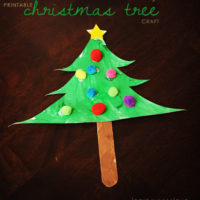 Printable Christmas Tree Craft
