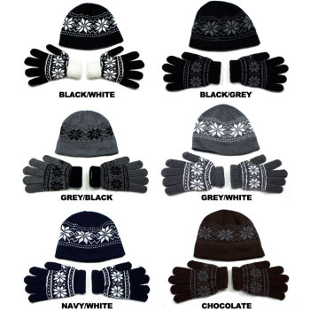 Beanie Gloves Set