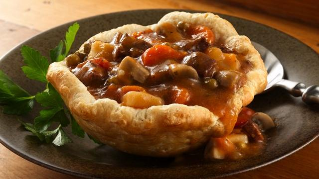Beef Stew Biscuit Cups Recipe