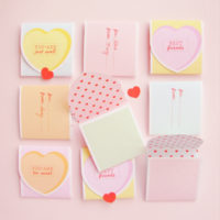 FREE Printable Conversation Heart Valentines