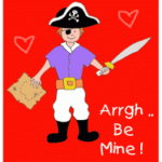 FREE Printable Pirate Valentines