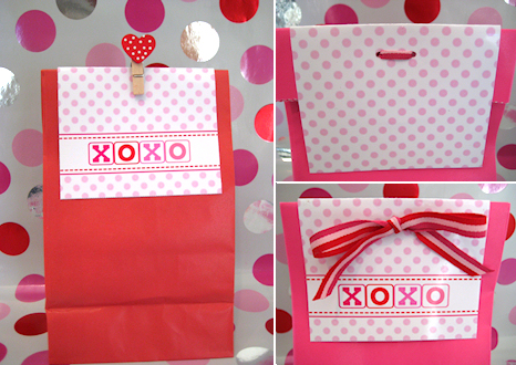 FREE Valentine Treat Sack Topper