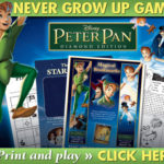 FREE Peter Pan's Never Grown Up Games Printables