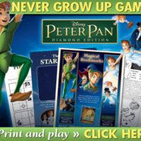FREE Peter Pan's Never Grown Up Games Printables
