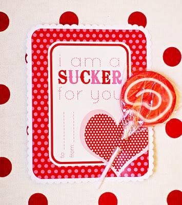 Valentine Sucker Card