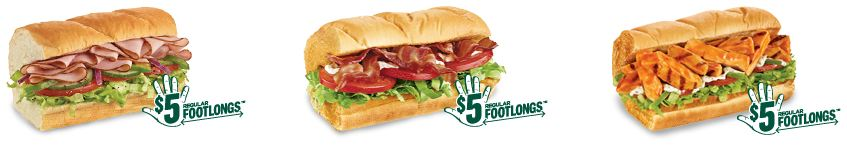 $5 footlongs