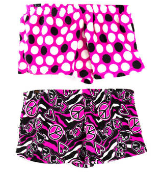 Girls Plush Shorts