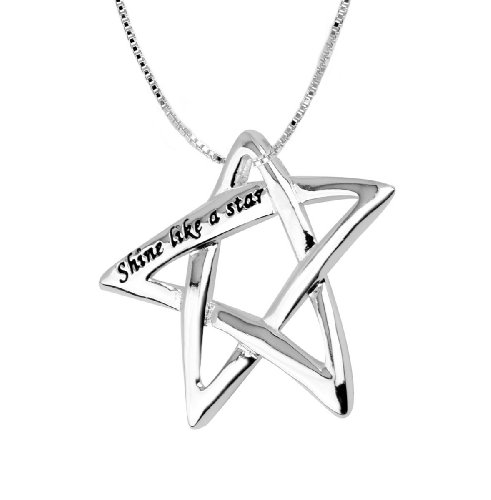 Sterling Silver Shine Like A Star Pendant