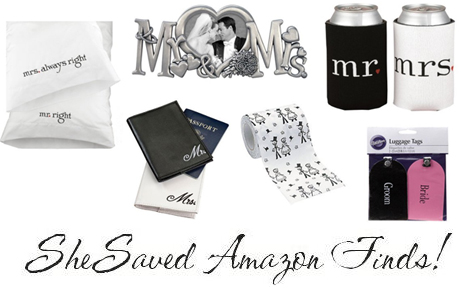 Check out these great Amazon Deals on Fun Wedding Shower Gifts !