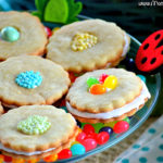 Marshmallow Berry Flower Cookies