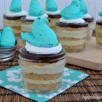 Peeps Eclair Cake Cups