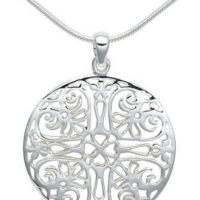 Sterling Silver Filigree Circle Pendant for $38 Shipped