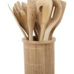 Bamboo Kitchen Utensil Set For $25.26 Shipped
