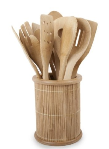 Bamboo Kitchen Utensil Set For 18 30 Shipped Shesaved 174