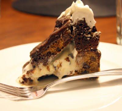 Brownie Chocolate Chip Ice Cream Cake
