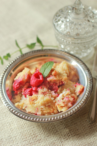 Raspberry Baked French Strata