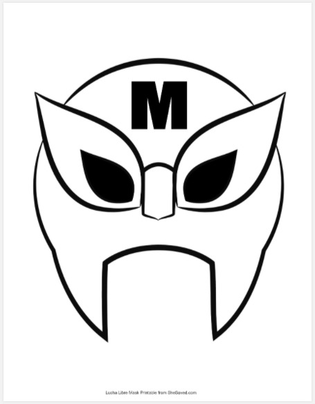 Macho Libre Mask Template