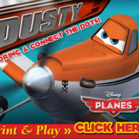 Disney Activity Sheets | Planes Coloring & Connect the Dots!