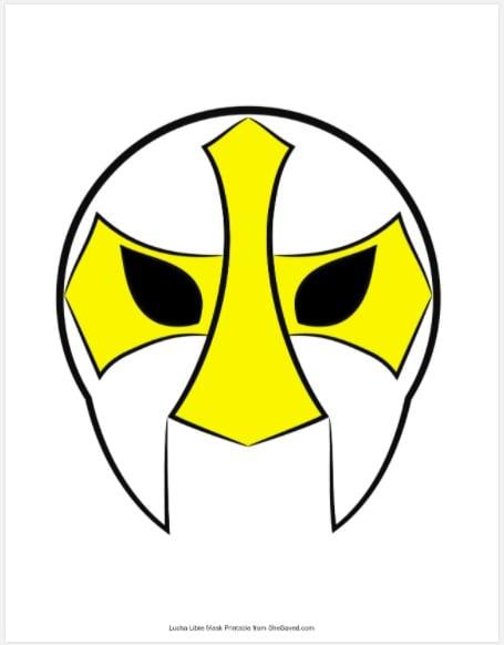 Wrestling Mask Template