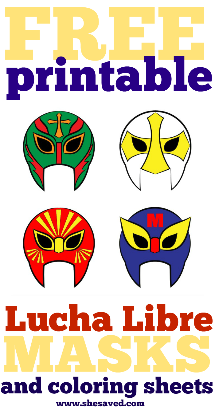 If you love Mexican wrestling then you will love these free printable lucha libre masks!