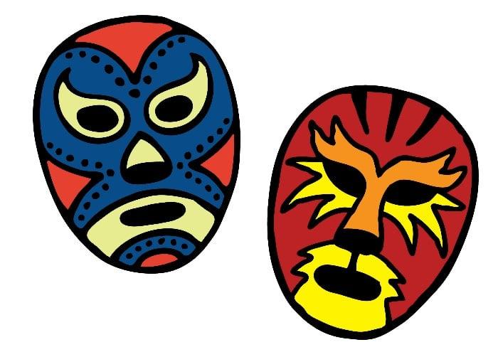 wrestling masks to print