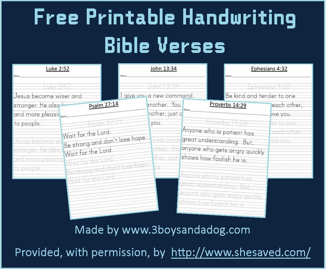 graphic relating to Free Printable Bible Verses Handwriting titled Free of charge Printable Bible Verses