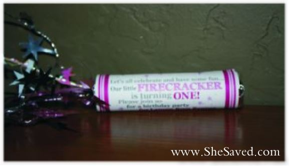 Firecracker Party Invites