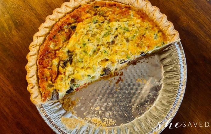 Ham and broccoli quiche recipe