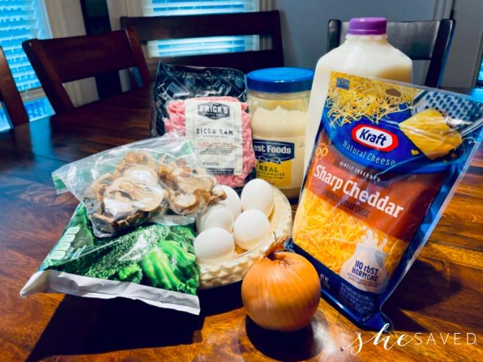 Homemade Quiche Ingredients