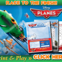 FREE Disney PLANES Activity Sheets
