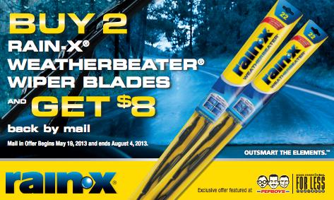 Rain-X Wiper Blade Rebate