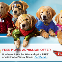 FREE Disney Planes Movie Admission With Super Buddies Purchase