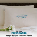 Faux Down Pillow Sale At Nature's Sleep