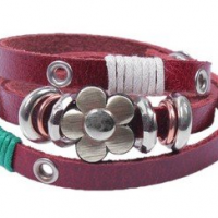 Leather Wrapped Bracelet For $1.59 Shipped