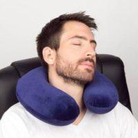 Memory Foam Travel Pillow For $5.99