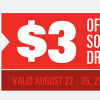 Regal Cinemas Coupon | $3 Off A Soft Drink