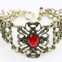 Vintage Ruby Bracelet For $1.59 Shipped